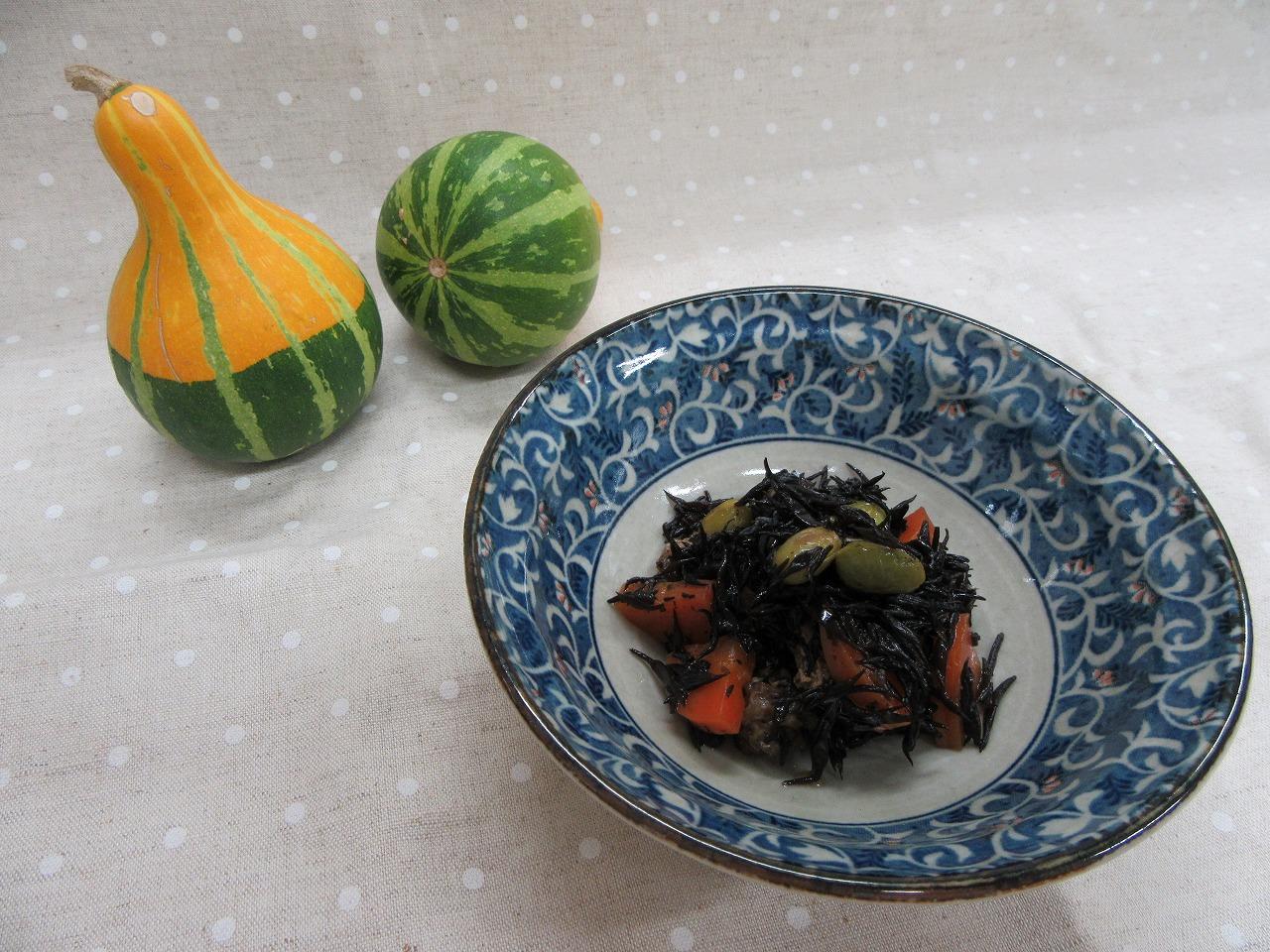 ひじきと枝豆の炒り煮