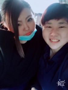 高尾心さん(左),柳生樹梨奈さん(右)