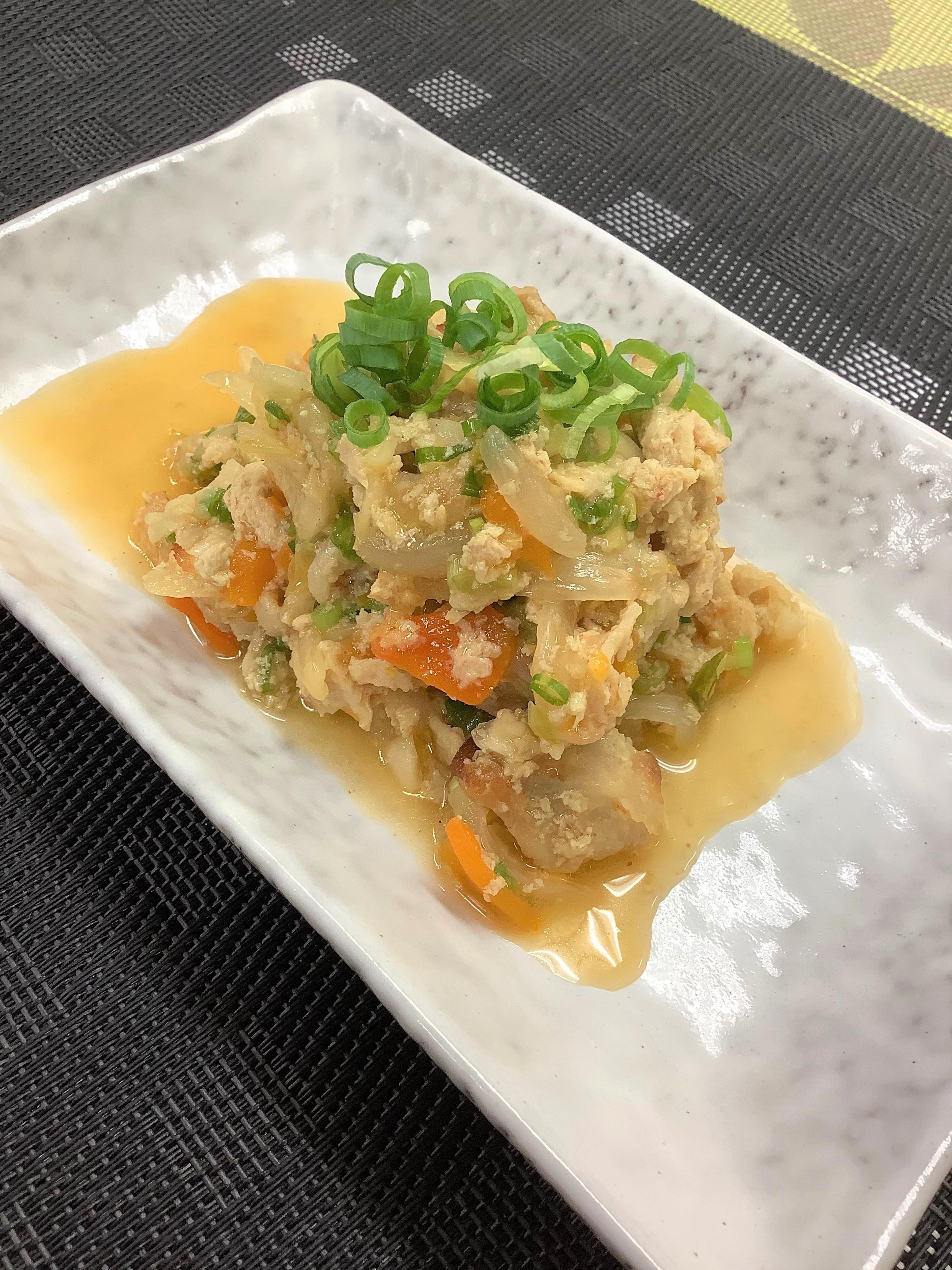 豚と葱のピリ辛キムチ炒め