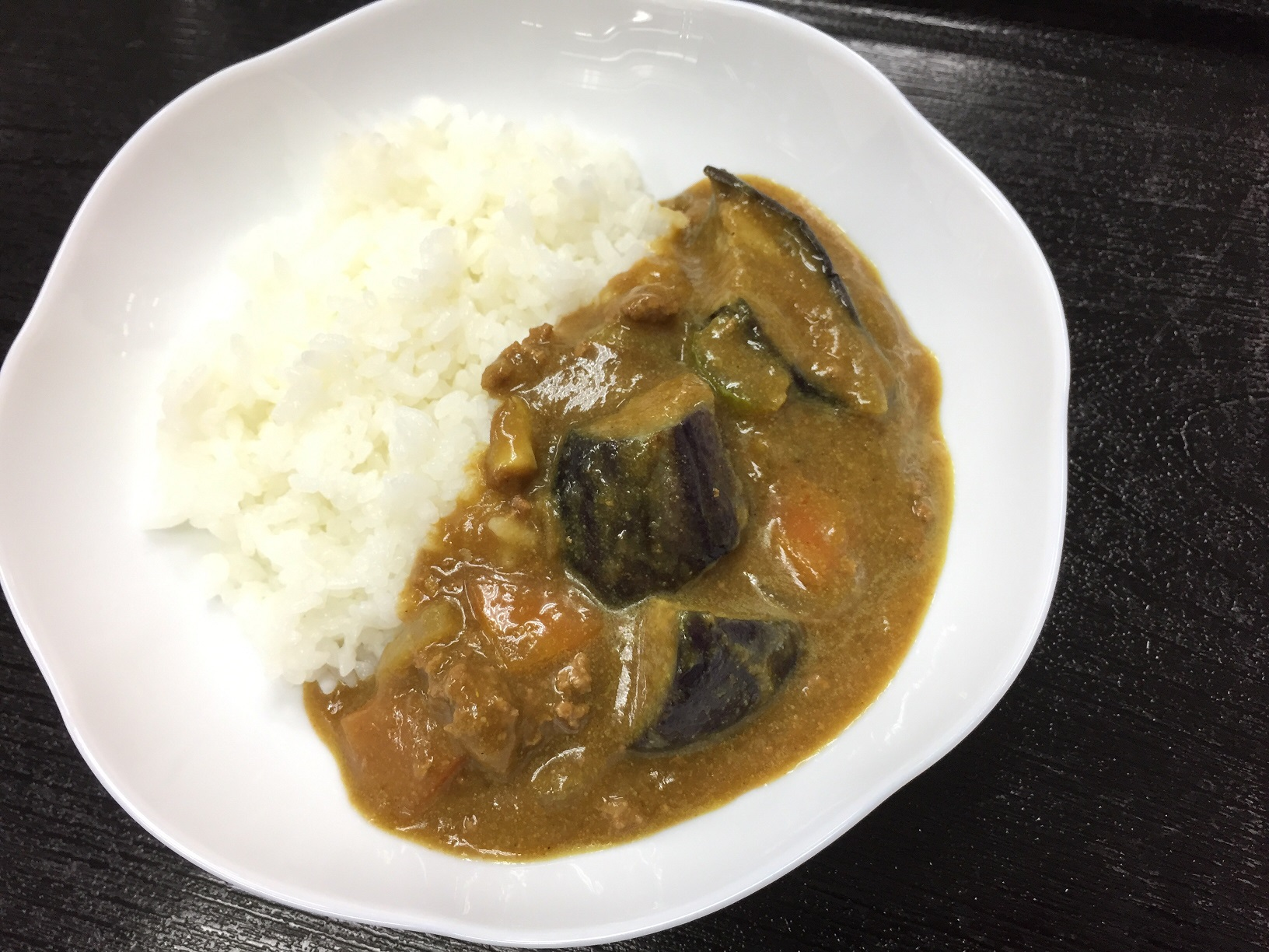 トロっと茄子と挽肉カレー