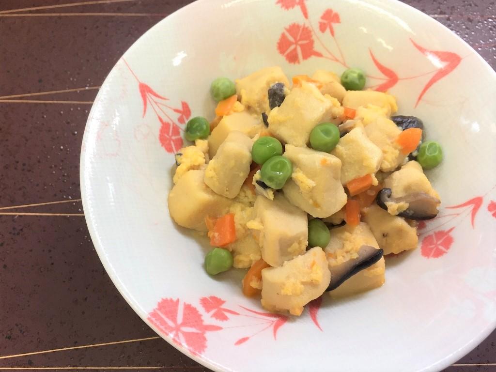 卵 こうや とじ 豆腐