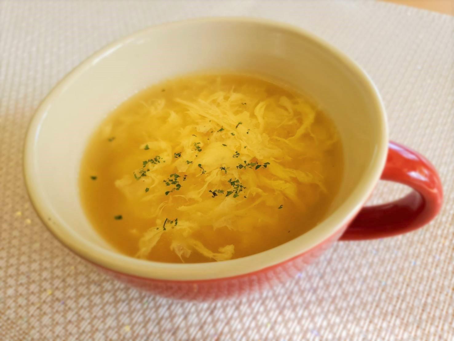 チーズかき卵スープ